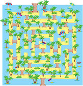 Summer tropical labyrinth — Stock Vector