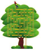 Laberinto de árbol verde — Vector de stock