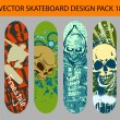 Royalty-Free Stock Vector Image: Skateboard design pack 17