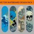 Skateboard design pack 17 — Stock Vector