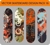 Skateboard design balení 16 — Stock vektor