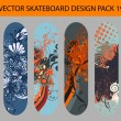 Skateboard design pack 19 — Stock Vector