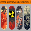 Skateboard design pack 20 — Stock Vector