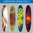 Stock Vector: Surfboard design pack