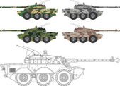 AMX 10RC — Stock Vector