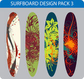 Surfboard design pack — Stock Vector