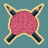 Dangerous creative minds — Stock Vector