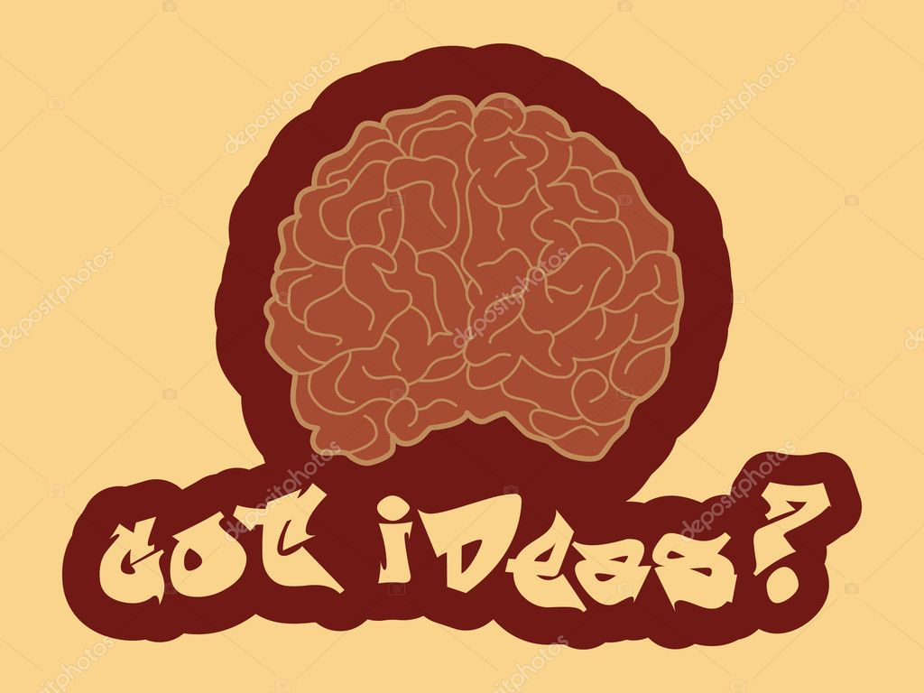 Got ideas? Abstract vector illustration of a human brain  — Stock Vector #11394866