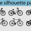 Vector bike silhouettes - Stock Vector