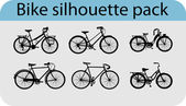 Vector bike silhouettes — Vector de stock