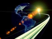 Digital Information Highway — Stock Photo