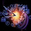Clock dynamic - Foto de Stock