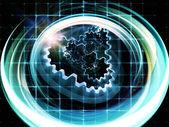 Technology Trails Background — Stock Photo