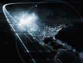 Globalizzazione dell'autostrada dell'informazione — Foto Stock