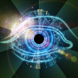 Eye of technology — Stockfoto