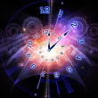 Stock Photo: Clock nebulae