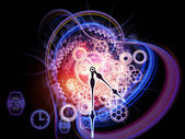Corriente del tiempo — Foto de Stock