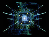 Vision of CPU — 图库照片