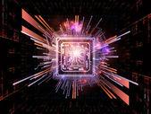 Conceptual CPU — Stock Photo