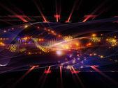 Энергия синус волны — Стоковое фото