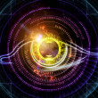 Eye of artificial intelligence - Foto Stock