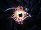 Eye of singularity — Stock Photo