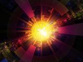 能量爆裂 — 图库照片