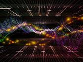 デジタル正弦波背景 — ストック写真