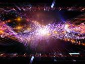 Digital sinusvåg bakgrund — Stockfoto