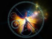 天文钟的灯光 — 图库照片