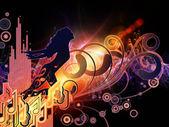 Geschwindigkeit der Musik — Stockfoto