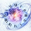 Foto Stock: Abstract clock background