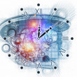Surreal clock concept - Stock Photo