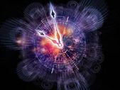Abstract clock backdrop — Stock Photo