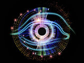 Pupil of technology — Stock Photo