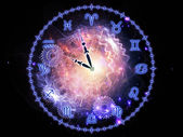 Horoskop hodiny — Stock fotografie