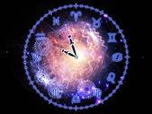 Horoskop zegar — Zdjęcie stockowe