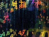 Numeri colorati — Foto Stock
