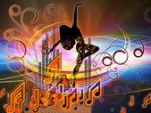 Evoluerende music — Stockfoto