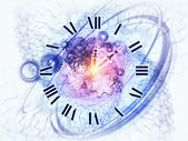 Abstract clock background — Stock Photo