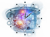 Surreal clock concept — Stock Photo