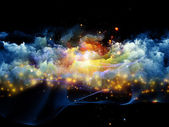 Colorful three dimensional fractal clouds — Stock Photo