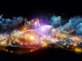 Worlds in fractal köpük — Stok fotoğraf