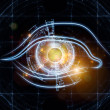 Stock Photo: Abstract technology eye