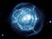 明星球抽象 — 图库照片
