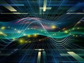 Sinusová vlna světla — Stock fotografie