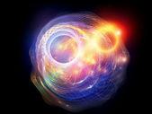 Lichtend fractal schijf — Stockfoto