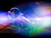 Stream of Music — Stock Photo