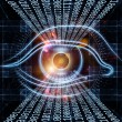 Stock Photo: Eye of digital progress