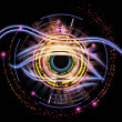 Stock Photo: Eye of artificial intelligence